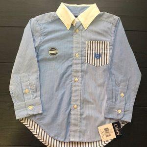 NWT Chaps blue button down shirt